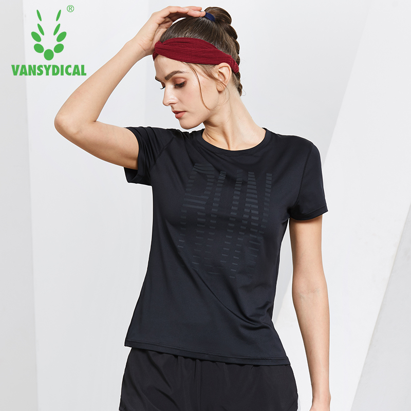 Women O-Neck Running Shirts Yoga Fitness Gym Short Sleeve Tops Female Quick Drying Badminton Football Training T-shirts