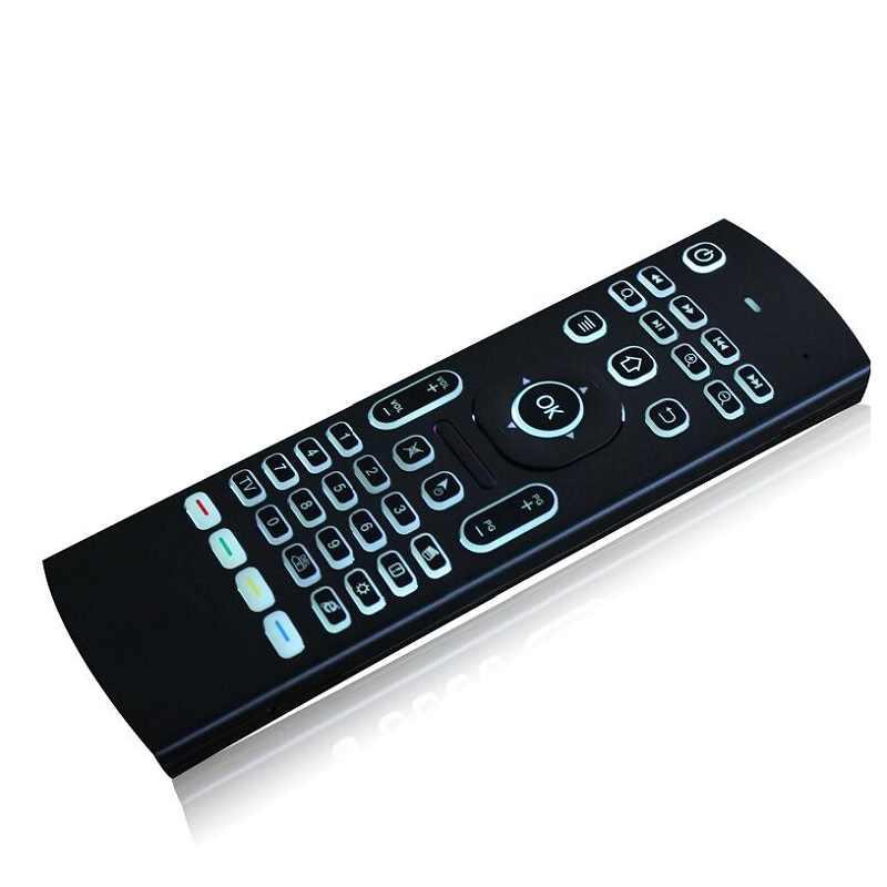 Fly air souris rétro-éclairé MX3 pro avec microphone vocal 2.4G mini clavier sans fil avec apprentissage IR étendre la télécommande pk w1