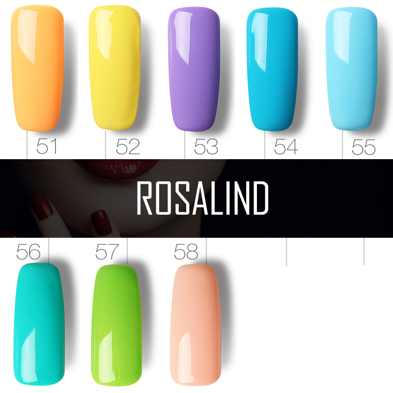 ROSALIND 10ml Gel Nail polish UV Colors Nail Gel For Nail Art Lacquer Vernis Semi Permanent Acryl Hybrid Gel Varnishes Top Coat