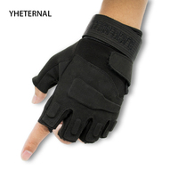 YHETERNAL Sport Gloves Fingerless Outdoor Airsoft Hunting Riding Military Men's Gloves Tactical Army Combat Training Gloves