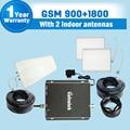 Kit completo GSM 900 1800 Del Teléfono Móvil Repetidor de Señal GSM 900 mhz DCS 1800 mhz Señal Móvil de Refuerzo GSM 900 1800 Amplificador de Doble Banda