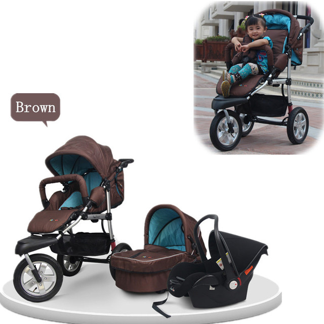 Travel System Baby Buggy with Car Seat Carry Cot Folding Pushchair