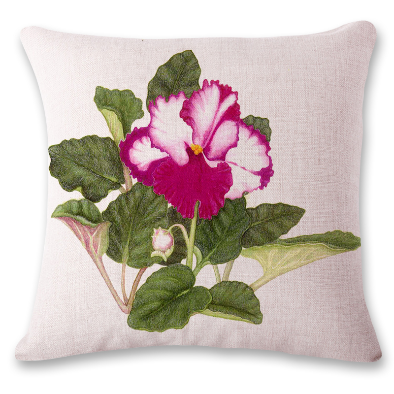 Pillowcase Flower Design: SMAVIA Beautiful Flower Design Pillow Towel 100% Polyester    ,