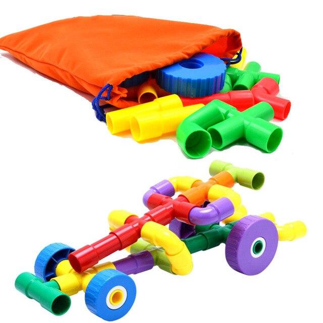 BOHS 43PCS Pipe U0026 Joint Construction Building Blocks Interlocking Set    Montessori Games Toys , With
