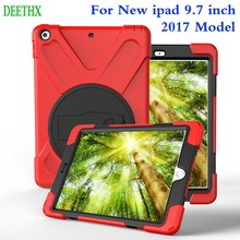 Hot! Tablet Case For Apple iPad 9.7 inch 2017 A1822 A1823,DEETHX,Duty Shockproof Hybrid Rubber Rugged Hard Protective Cover Case