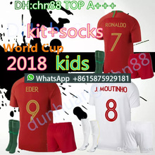 3ee312de2 2018 2019 kids kit RONALDO NANI soccer jerseys QUARESMA 2018 World Cup  Portuguese DANILO PORTUGAL PEPE futol camisetas football