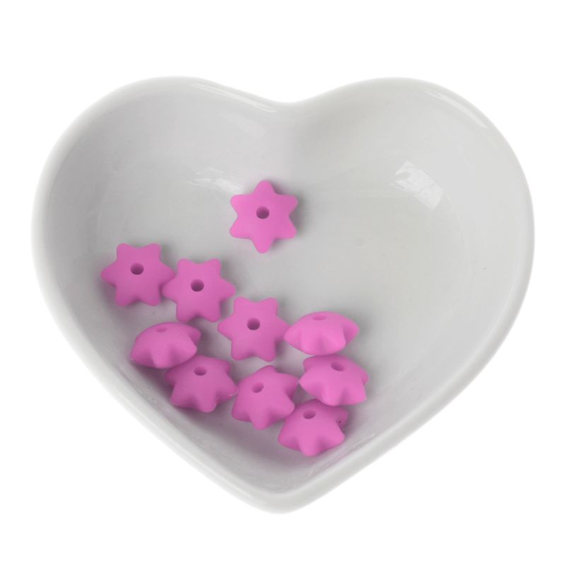 Купить с кэшбэком 10Pcs Baby Teether Silicone Beads For Mom DIY Bracelets Necklaces Craft Jewelry 20 colors