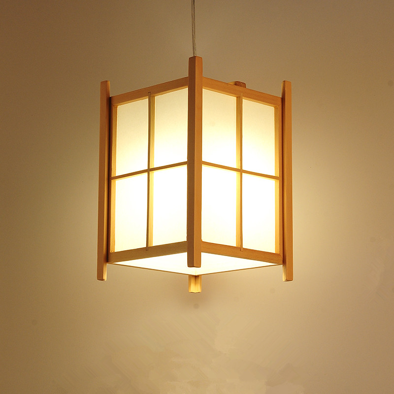 Modern Japanese Pendant Lamp Washitsu Tatami Decor Wooden Lamp For Restaurant Living Room Hallway Japan Lighting And Lantern