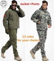 Heißer Verkauf Männer Armee Taktische Militärische Outdoor-Sport Anzug Jagd Camping Klettern Wasserdicht Winddicht TAD Haifisch Jacke + Pants