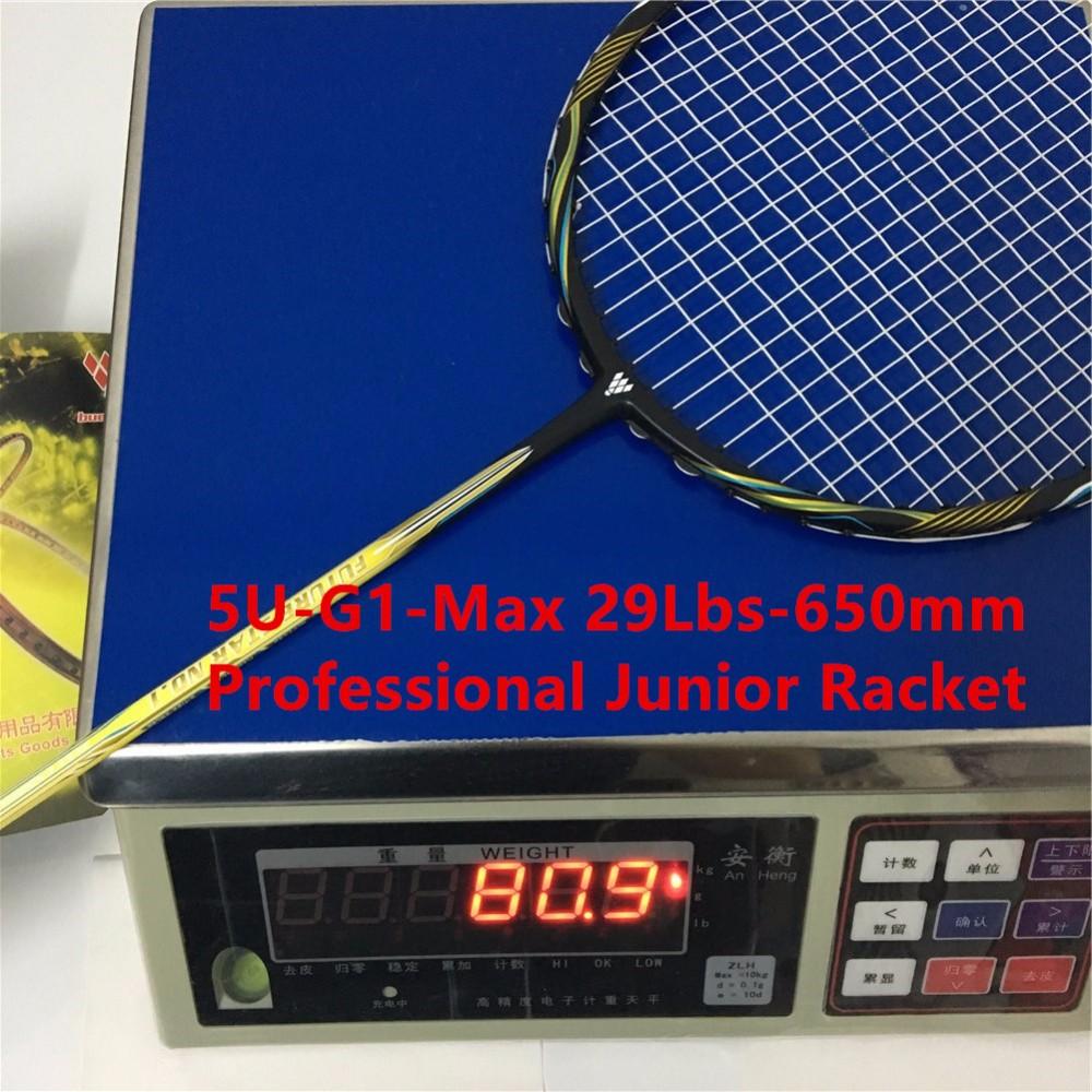 Good Junior racket 5U professional badminton racket G1 carbono badminton rackets paddle racket