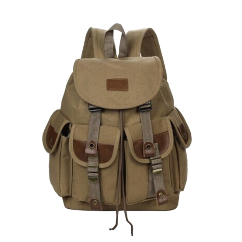 Man's Canvas Backpack 2018 Hot Mens Travel Rucksack Military Satchel Teenager Boy Girl Vintage School Bag Bookbag Large Capacity kaukko large capacity shoulder bag mens traval canvas backpack unisex bags for teenager school knapsacks