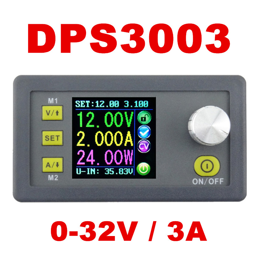 DP30V3A Upgraded version Programmable Power Supply Module Buck Voltage current Converter LCD Display Voltmeter DPS3003 21% off 5pcs zxy6005s upgraded version zxy6005 constant voltage current power supply module with heat sink voltmeter ammeter 60v 5a