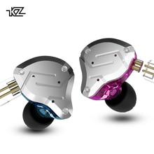 Ccakz Zs10 Pro в ухо гарнитура Металл 4ba + 1dd Гибридный 10 единиц Hifi бас уши монитор наушники Спорт шумоподавление 2pin