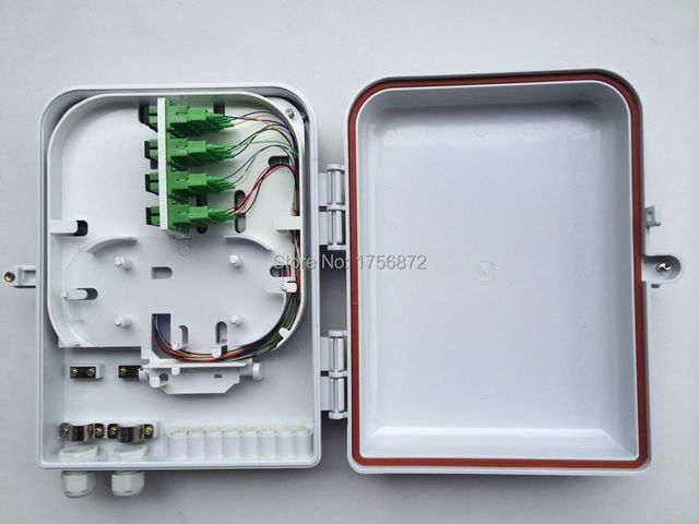 16 Core Caja de Terminación de Fibra Óptica de 16 puertos FTTH fibra óptica caja de distribución caja de Sub-cable de fibra óptica FTTH