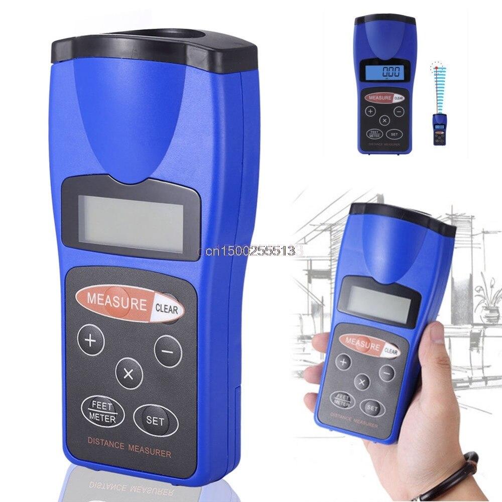 Ultrasonic Distance Measurer 18M LCD Ultrasonic Laser Pointer Distance Measurer Range Finder Diastimeter New