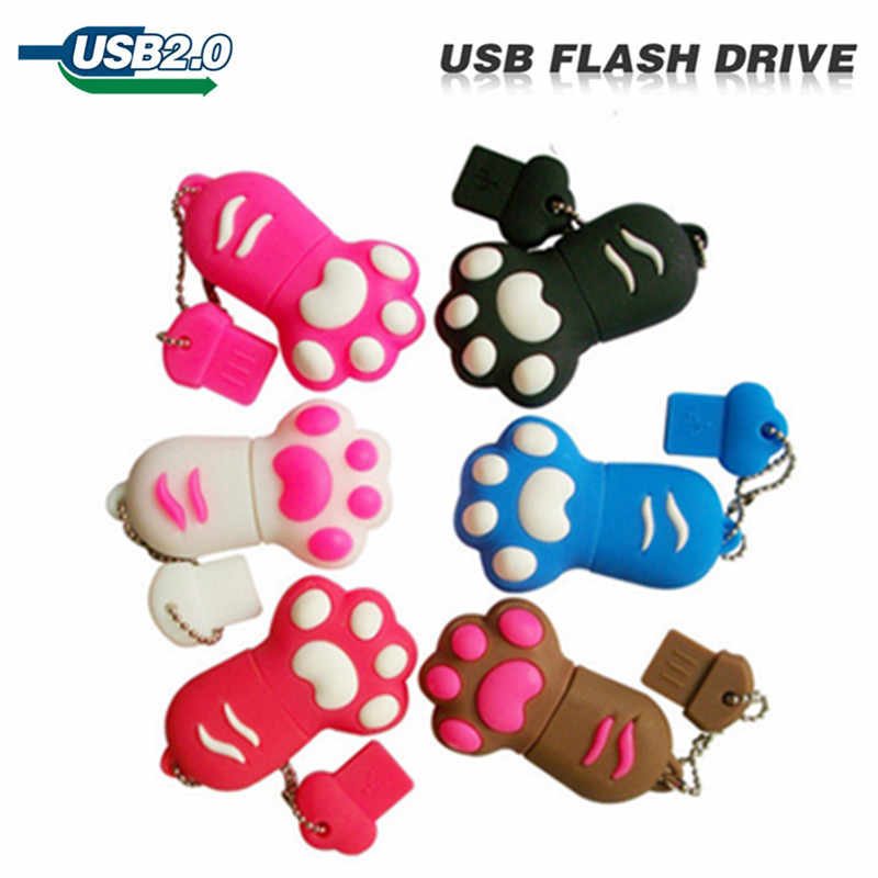 Usb flash drive 4gb 8gb 16gb 32gb cat's claw usb pendrive gift u disk memory stick pen drive New hot Cartoon Cat Claw Gift