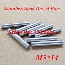 100 шт./лот M5* 14 GB119 Нержавеющая сталь штифты/круглый цилиндр цилиндрический штифт, диаметр: 5 мм