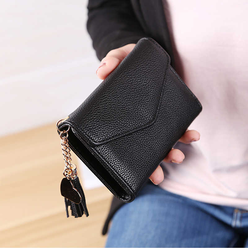 DALFR femmes portefeuille en cuir Pu femme porte-monnaie dames pochette Style fermeture éclair marque de luxe concepteur femmes sacs