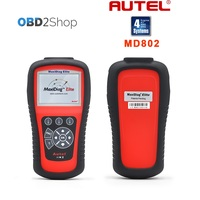 Autel Maxidiag Elite MD802 code scanner MD 802 Update Online with 4 systems Original Super scanner