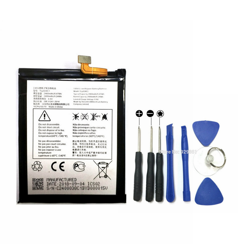 2400mAh Battery + Repair Tools For Alcatel A3 OT-5046/Shine Lite OT-5080 5080X OT-5046D OT-5046Y 5046D 5046Y TLP024C1/TLP024CJ