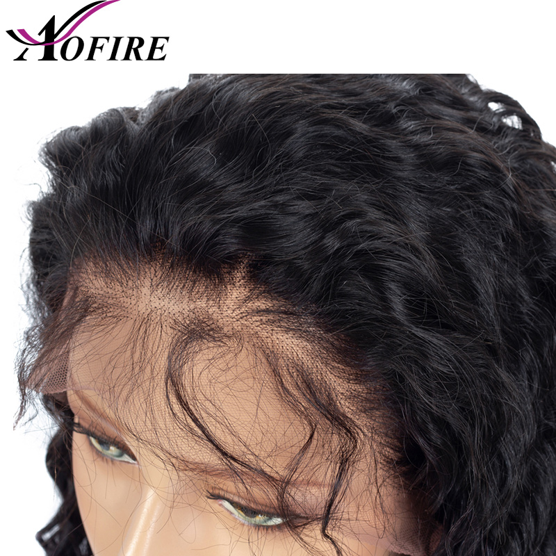 Full Lace Human Hair Wigs Transparent Remy Lace Deep Wave Peruvian Hair For Black Women Natural