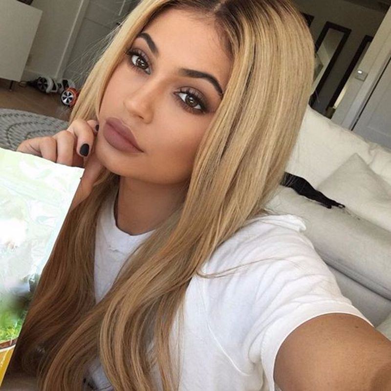 ФОТО Hot Womenly Long Straight Lace Front Wigs 12-26 Inch Wig Blonde Synthetic Glueless Lace Wigs Synthetic Lace Front Wigs