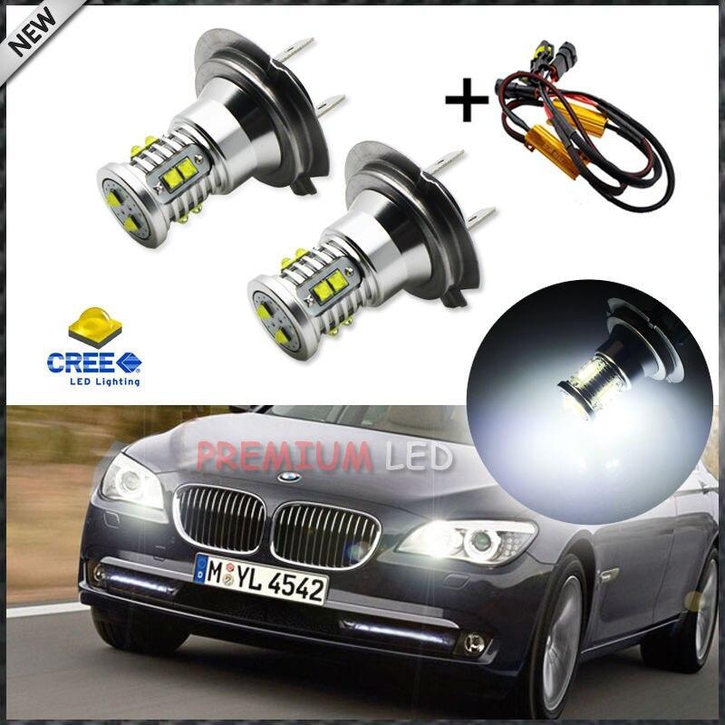 Super Bright White 3-CREE LED License Plate Lamps For BMW E90 E92 E60 F30 etc