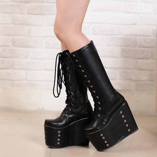 Aliexpress.com : Buy Autumn Womens Wedges Super Ultra High Heels ...