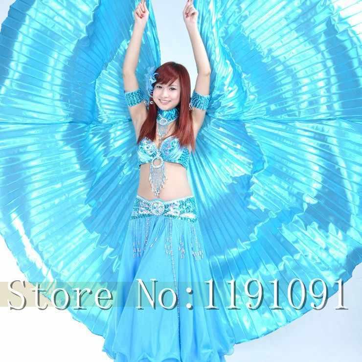 גבוהה באיכות מצרים איזיס בטן ריקוד כנפי ריקוד כנף חמה חדש הודי ריקוד נשים ריקודי בטן 1 pc כנף 11 צבעים