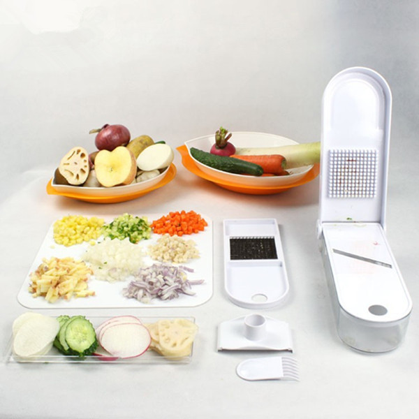 Household Cooking Tools Vegetable Chopper Fruit Slicer Diced Onion Cutting Machine Multi functional Kitchen Shredder