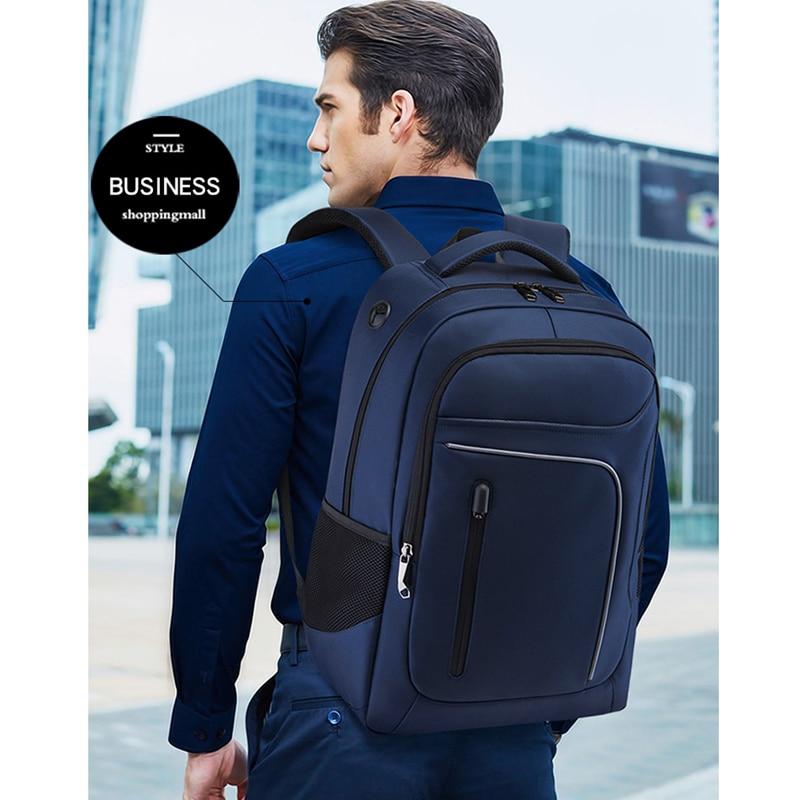 Hommes USB chargeur sac à dos 17 pouces sac à dos pour ordinateur portable adolescent sac d'école Anti-vol grande capacité voyage sac à dos mâle Mochila
