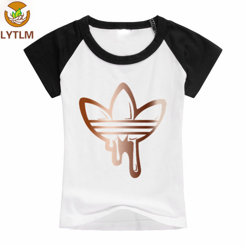 LYTLM Baby Girl Tops Korean Big Kids Summer Clothes Boys Raglan Sleeve Funny Tee Shirts for Kids Cotton Hipster Tshirt Boys