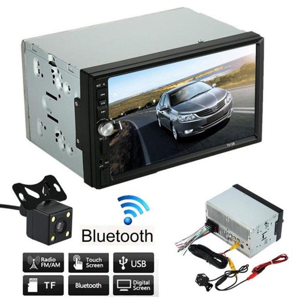 7 дюймов Большой экран HD двойной 2 DIN стерео MP5 MP3 плееры Радио Bluetooth USB AUX + парковка Камера + 1080 P фильм плеер + Bluetooth