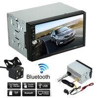 7 inch groot HD scherm Dubbele 2 Din Auto Stereo MP5 Mp3-speler Radio Bluetooth USB AUX + Parking Camera 1080 P film speler + Bluetooth