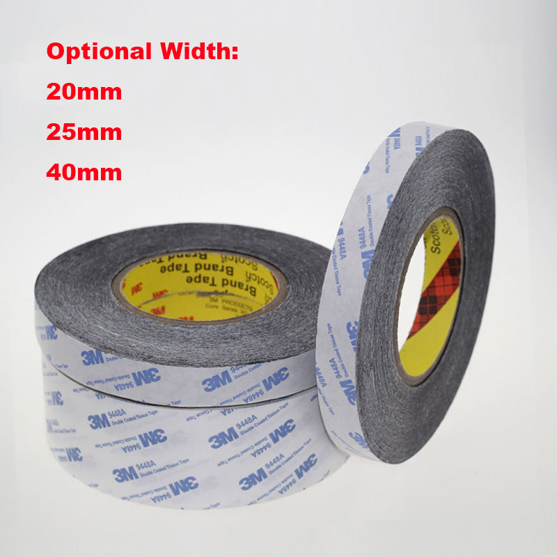 1 Meter 20mm 25mm 40mm Width 3M9448A Double Coated Tissue Tape Thermally Conductive Adhesive thermal pad for heat sink radiator 48pcs x 25 25mm square thermal adhesive tape for heatsink heat sink high thermal conductive