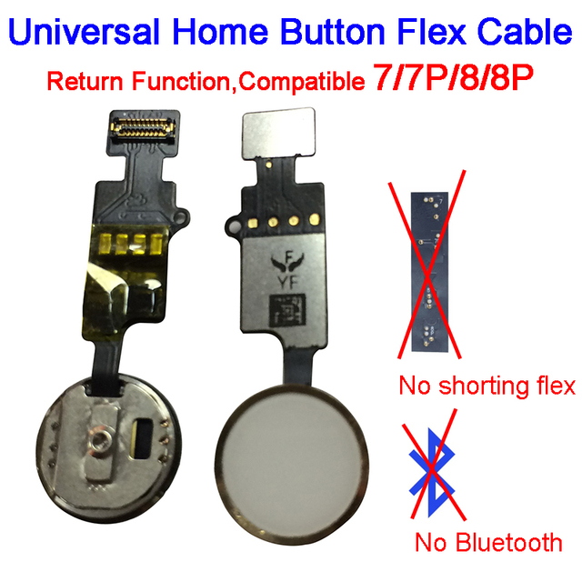 New updated YF End Edition Universal Return Key for IPhone 7 8 7 Plus 8 Plus Home Button Flex Cable
