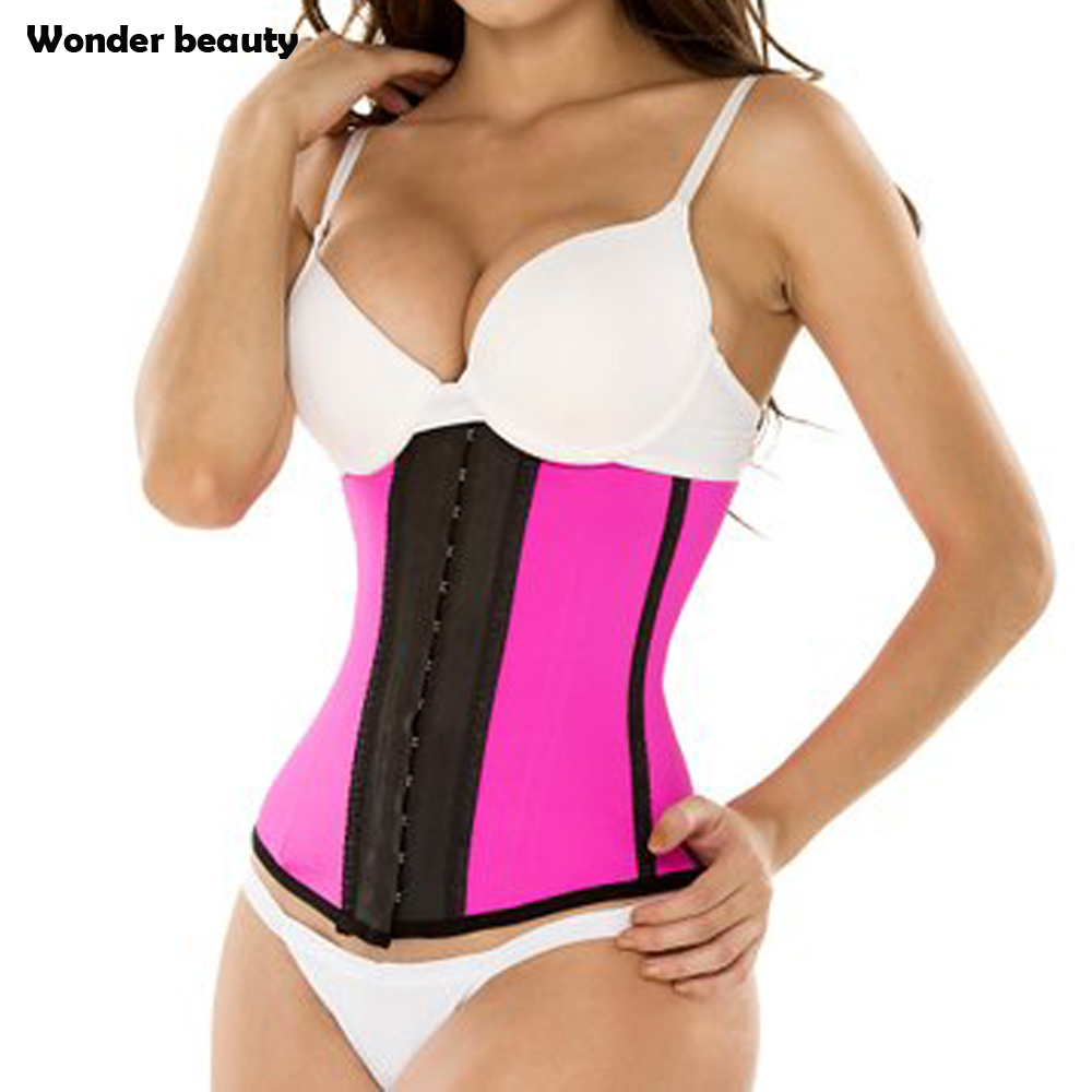 f063082972e Latex Waist Trainer Corset Plus Size Steel Bone Workout Waist Cincher Women  Slim Body Shaper Girdles Corsets-in Waist Cinchers from Women s Clothing ...