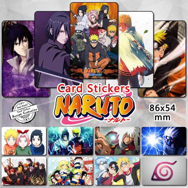 105pcs Naruto Series Card Stickers Classic Anime Character Sasuke Sakura  Hinata Kakashi Akatsuki Boruto Collectible Sticker Gift