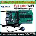 Controlador sem fio WI-FI a bordo de Flash de 4 GB, Asyn HD-C10 Full color cartão de controle de display LED P3 P4 P5 P6 P8 P10 display LED
