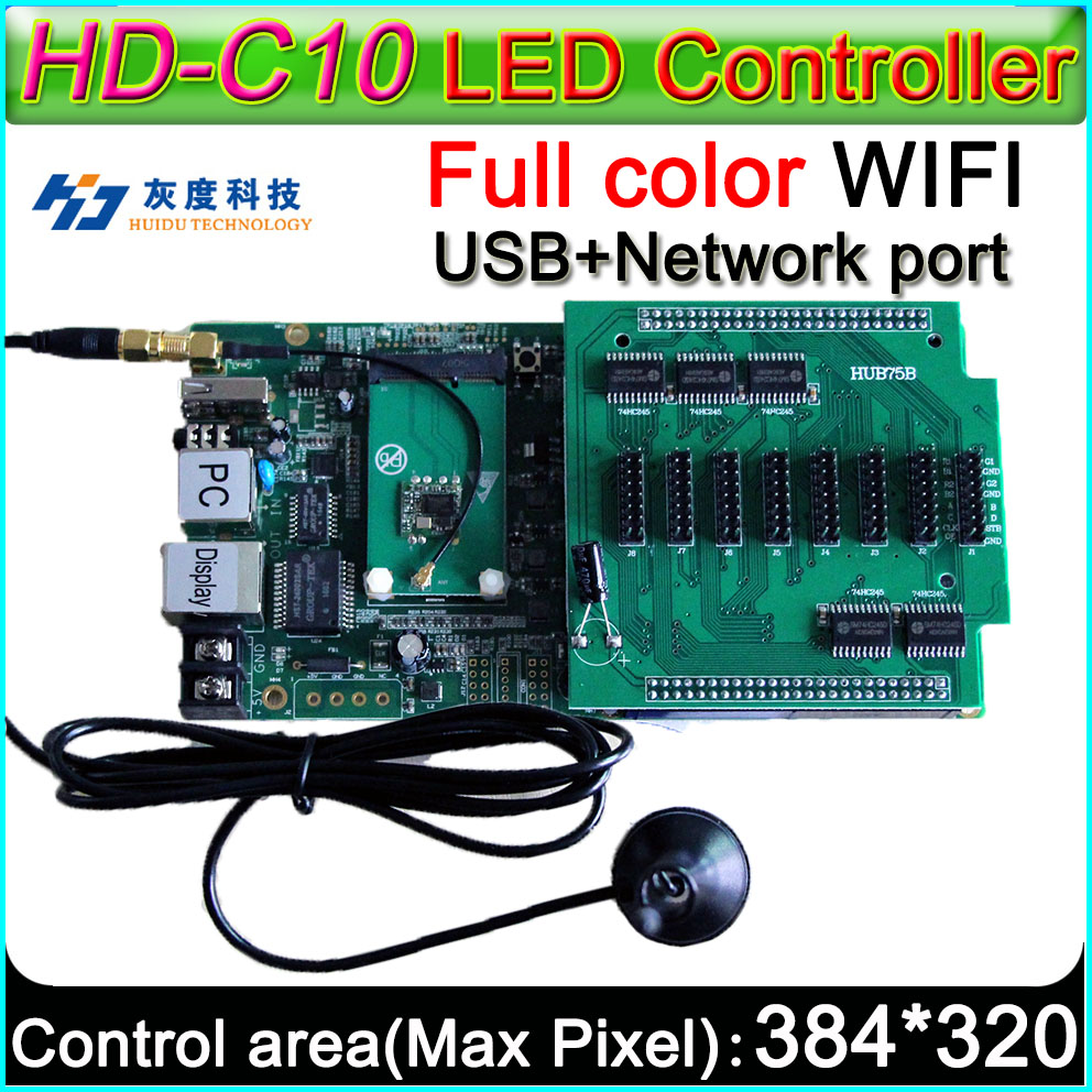 Wireless WIFI controller On board Flash  4GB, HD-C10 Full color Asyn LED display control card P3 P4 P5 P6 P8 P10 LED displayWireless WIFI controller On board Flash  4GB, HD-C10 Full color Asyn LED display control card P3 P4 P5 P6 P8 P10 LED display