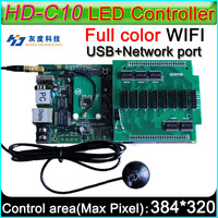 Wireless WIFI controller On board Flash 4GB, HD C10 Full color Asyn LED display control card P3 P4 P5 P6 P8 P10 LED display