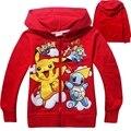 Neat pokemon marca ir sudaderas con capucha de manga Larga niños del cabrito ropa de Niños ropa de estilo fresco traje cómodo de los hoodies 3878 #