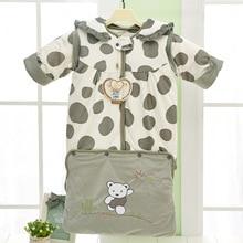 Hot Sale Pure Cotton Cartoon Sleeping Bags Baby Sleeping Sack Warm Anti Kick Quilt Detachable Sleeve Baby Wrap Free Shipping