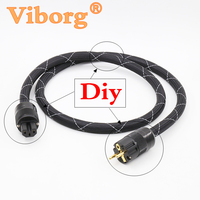 Viborg Audio 2M Prism Helix 8 SA OF8N Copper SCHUKO Power Cable Gold Plated EUR Power