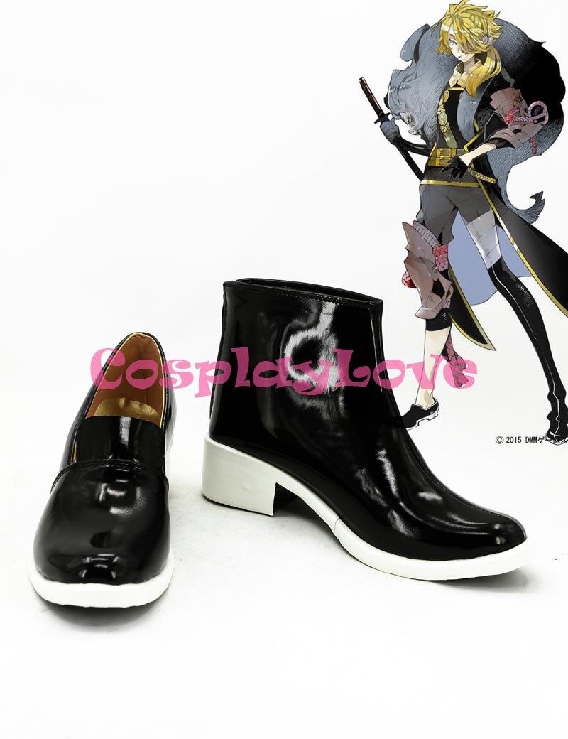 Custom Made Japanese Game Touken Ranbu Online Shishiou Cosplay Boots Shoes For Halloween Christmas