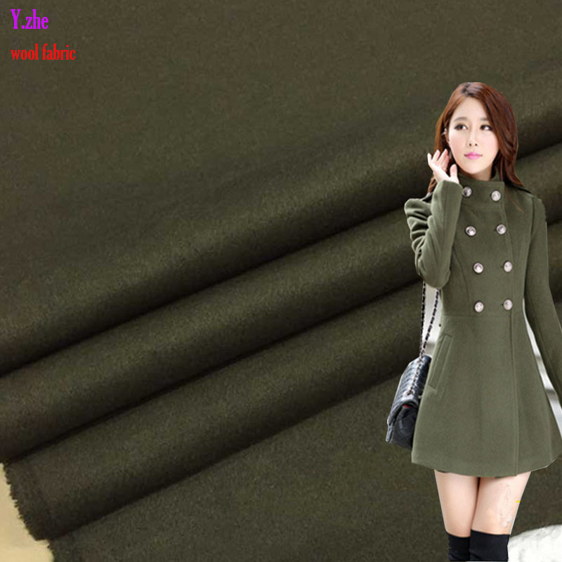 140x100cm Good Wool Fabric Green Wool Fabric Coat Fabric for Sewing Material DIY Fashion Women Man Coat Dress