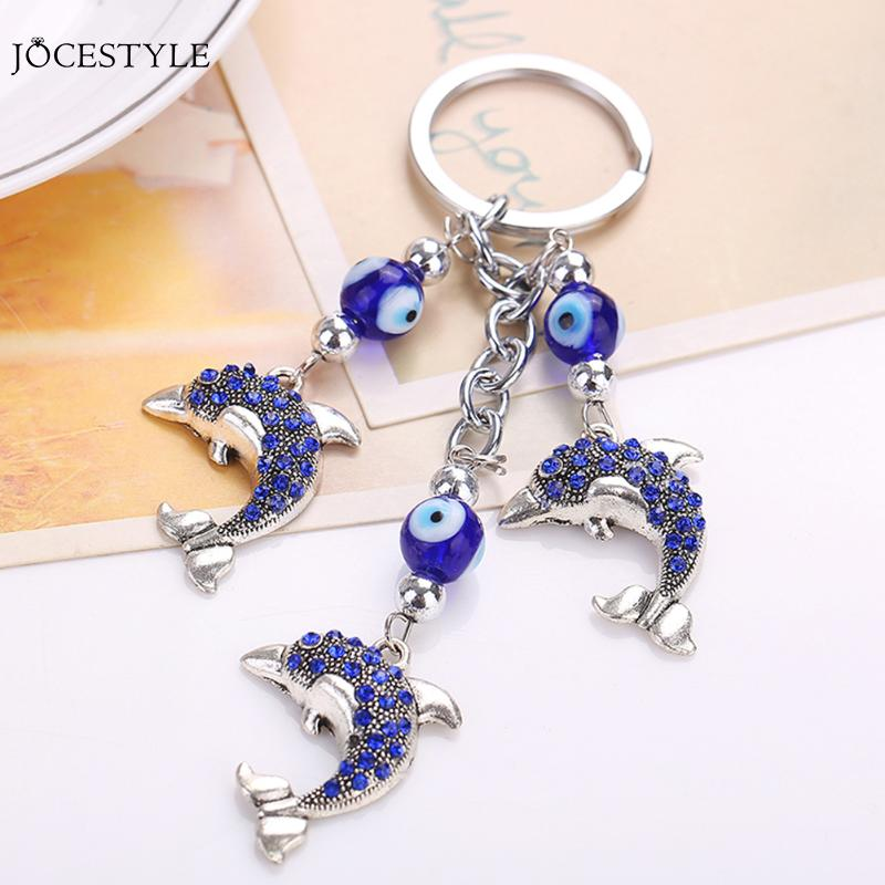 New Fashion Evil Eye Animal Lucky Crystals Car Bag Keychain Keyrings Charm lovely Accessories Creative Novelty gifts