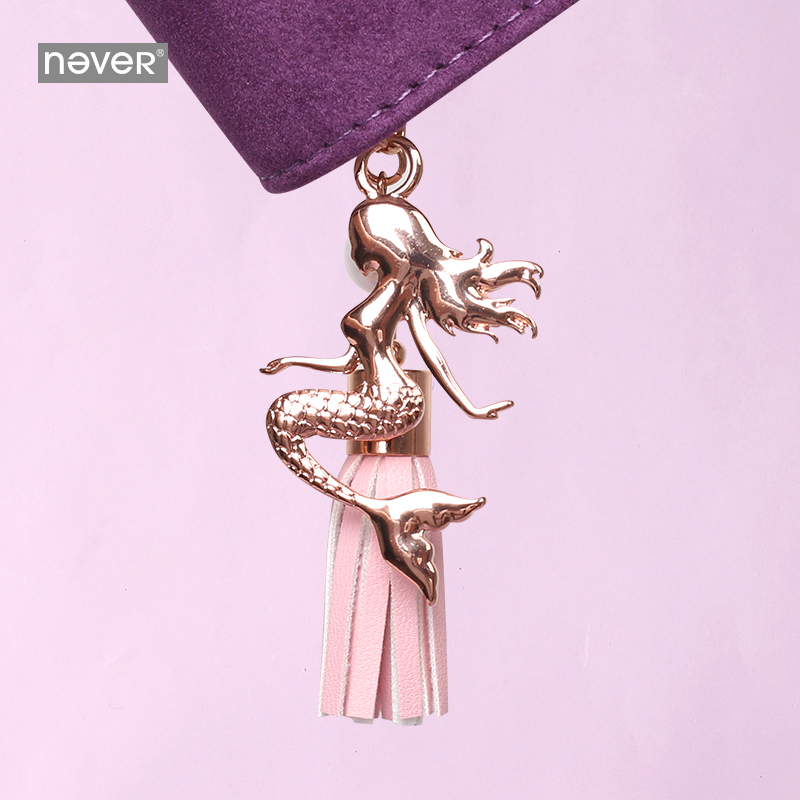 Never Mermaid Series Mermaid Shaped Pendant For Filofax Spiral Notebook Planner Accessories Key Buckle Student Gift Stationery