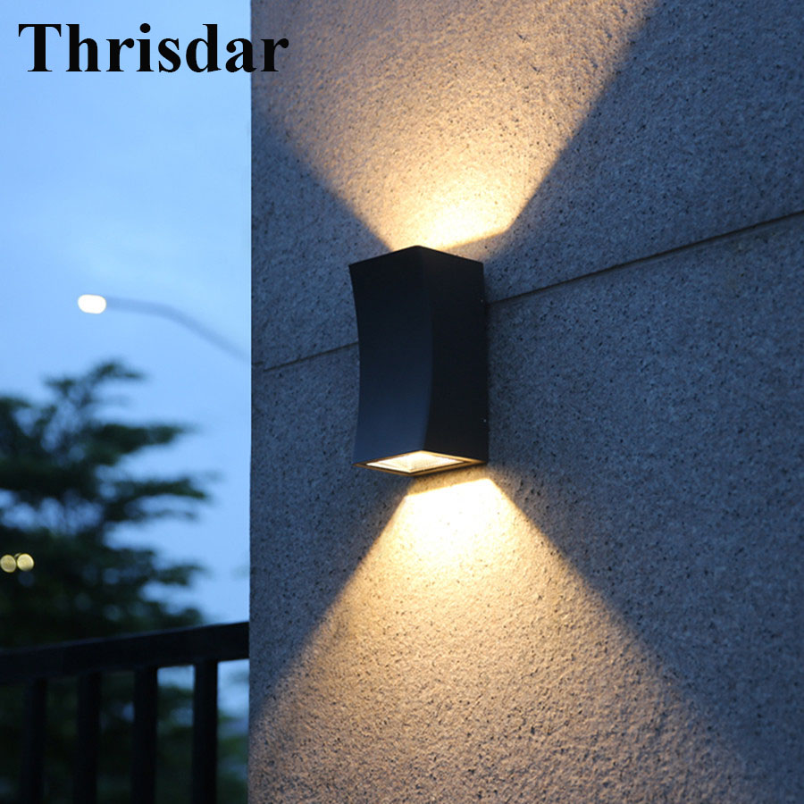 Thrisdar Outdoor Lighting Up Down Waterproof Wall Lamp Villa Garden Courtyard Balcony Porch Light Outside Building Decor Lamp
