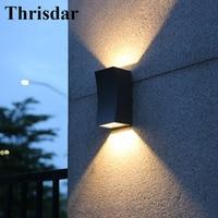Thrisdar Outdoor Lighting Up Down Waterproof Wall Lamp Villa Garden Courtyard Balcony Porch Light Outside Building Decor Lamp